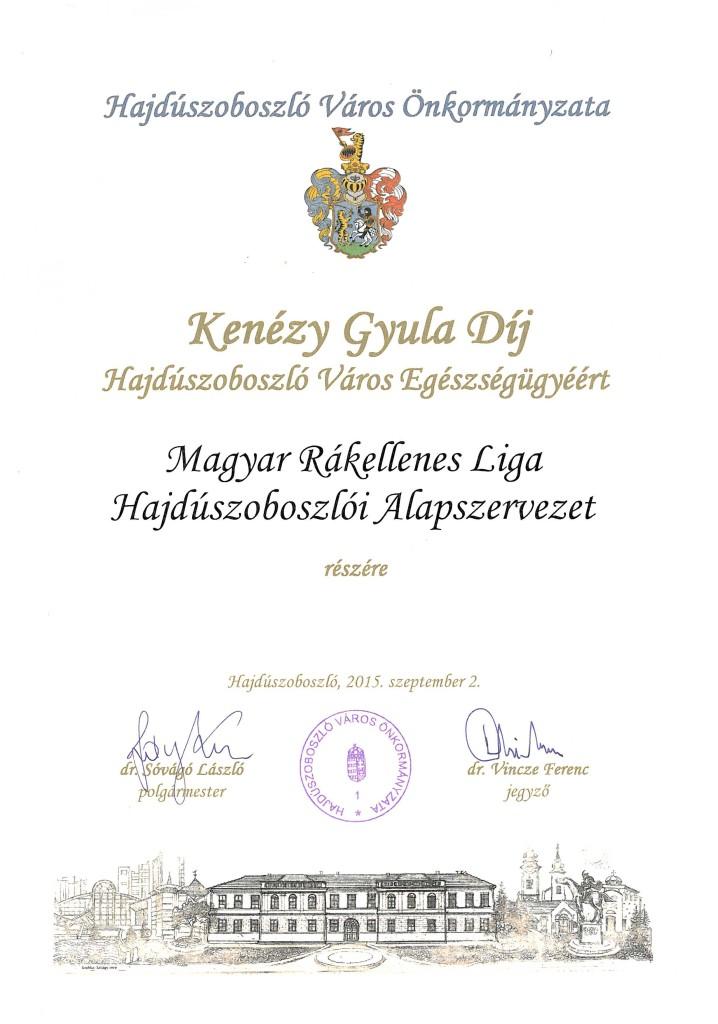 Kenézy Gyula Díj